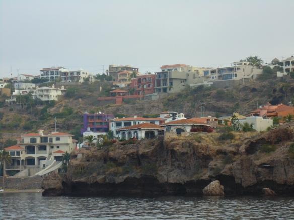 Close up of San Carlos houses