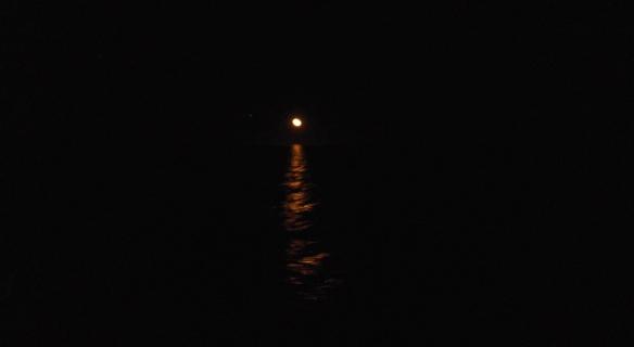 Moon over Sea of Cortez