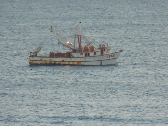 Shrimper going out for the night