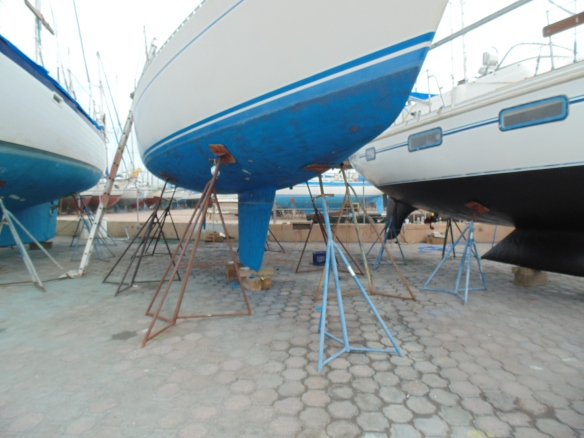 Work yard at Marina Seca