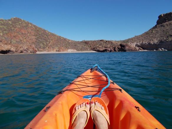 Kayaking to Martini Cove